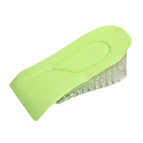 Kairuun Invisible 2 Capas Plantillas Elevador de Altura de Gel de Sílice Reduzca la Vibración y Respirable 4.2cm Zapatos Inserciones con Soporte de Arco