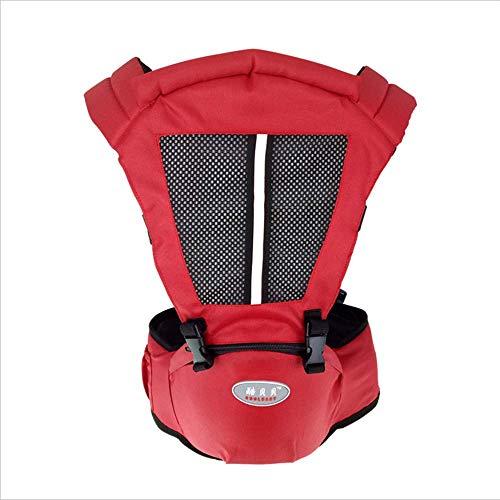 HXYL Babytrage Mit Verstellbarem Hüftsitz, Multifunktionaler, Atmungsaktiver Baby Bun-Hocker Mit Schulterfront,Red -
