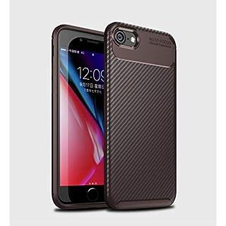 DoubTech Hülle iPhone 7 8 Handyhülle Weiches Silikon Kohlefaser-Muster Schweißbeständig Anti Fingerabdruck Internes Kühlmuster Stoßfest Verstärkungskante Schutzhülle