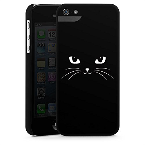 Apple iPhone 5s Housse Outdoor Étui militaire Coque Chat noir Chat Chat CasStandup blanc