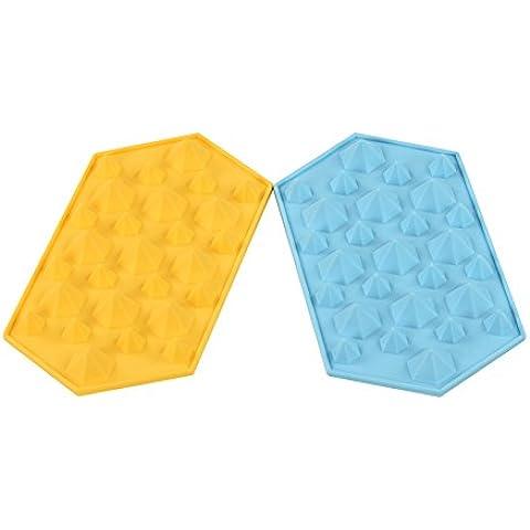 Newlemo Stampo per Ghiaccio 2-Pack Diamante Stampi in Silicone di Ghiaccio Stampi per Ghiaccio Stampo per Ghiaccio Diamante Stampi per Ghiaccioli Stampi