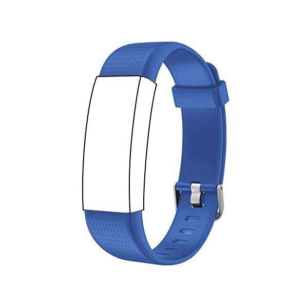 Correa para ID 130 Plus Color HR, Rastreador de Ejercicios Pulsera, Recambio Repuesto Reemplazo Banda de Reloj Ajustable para Fitness Tracker ID130 Plus 1