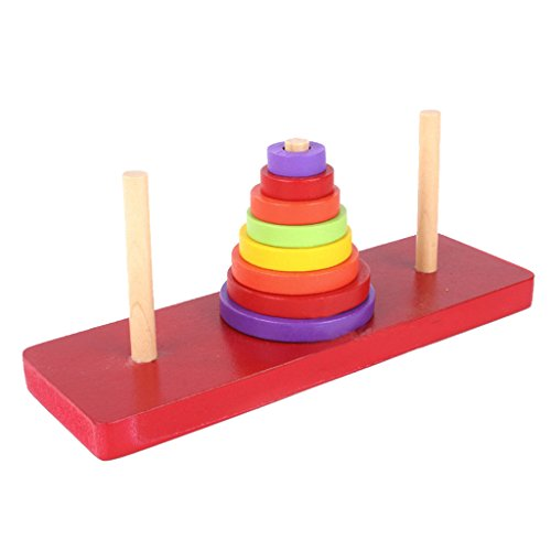 Generic Tower of Hanoi Wood Puzzle Toy Brain Teaser