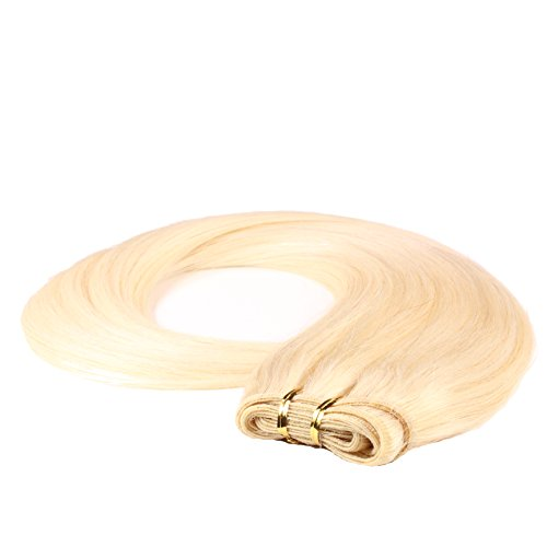 Just Beautiful Hair and Cosmetics Extension en cheveux indiens naturels Remy Blond platine (60) 60 cm