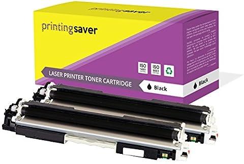 Printing Saver 2x NOIR compatibles toners pour HP Colour LaserJet Pro MFP M176n, M177fw