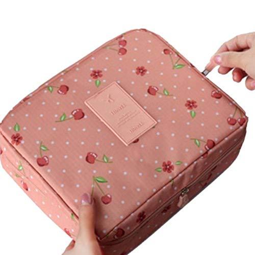 AIDEBIANLI Floral Bedruckte Wasserdichte Nylon Frauen Kosmetische Aufbewahrungstasche Fall BH Unterwäsche Organizer Zahnbürste Reisetasche Körperpflege 50 X 40 X 30 cm