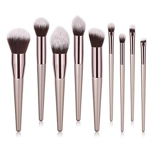 Dtuta 10 Hohe VerkäUfe, Meistverkaufte Mode High-End Champagnerfarbe Lidschatten Foundation Blush Make-Up Pinsel