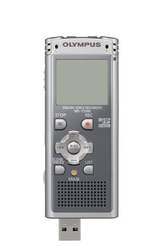 Bargain Olympus WS 750M – Digital voice recorder – flash 4 GB – WMA, MP3 – grey on Line