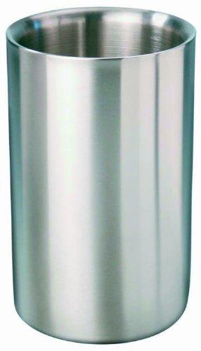 Edelstahl Isolier-Flaschenkühler Ø 12 cm Sekt Wein Champagner Flaschen Kühler