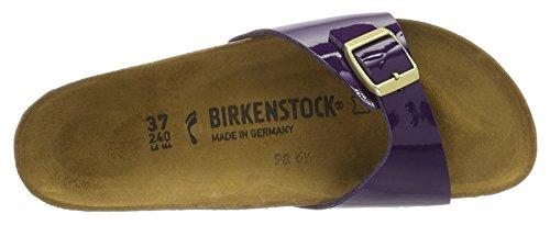 Birkenstock Madrid Birko-Flor, Ciabatte Donna, Lilla Violett (Lilac Lack)