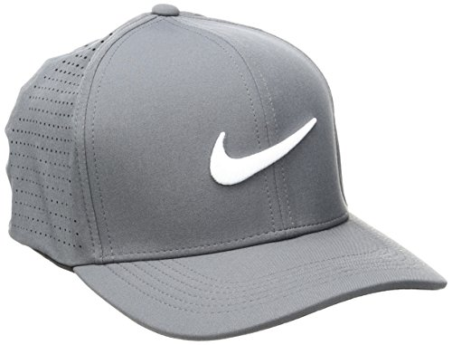 Nike 803330-021 Casquette Mixte Adulte, Gris Foncé/Anthracite/Blanc, FR : M (Taille Fabricant : M/L)