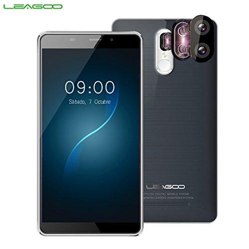 Leagoo M8 Pro 4G Phablet Android 6.0 5.7 pulgadas Corning gorila de cristal 4 pantalla MTK6737 Quad Core 1.3GHz 2 GB de RAM 16 GB de ROM 13.0MP + 5.0MP Cámaras traseras Dual Escáner de huellas dactilares, Gris