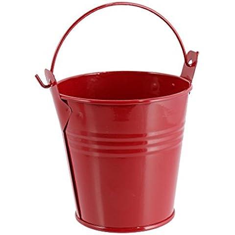 Caja de Aleación Mini Cubo de Regalo de la Fiesta de Navidad de Regalo Cubo de Caramelo de la Boda Linda Facilitar - rojo , M