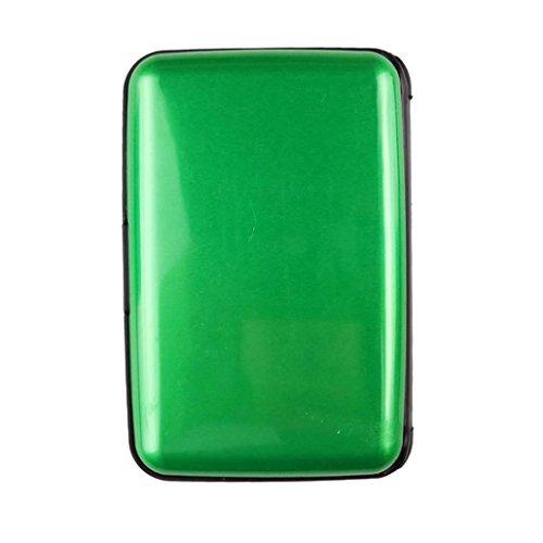 Wasserdicht Kreditkartenhüllen SOMESUN Herren Kartenhüllen Business ID Kreditkarte Brieftasche Kunststoff Tasche (Grün)