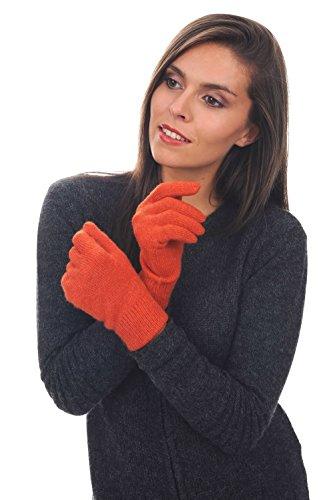 gants cachemire femme Paprika