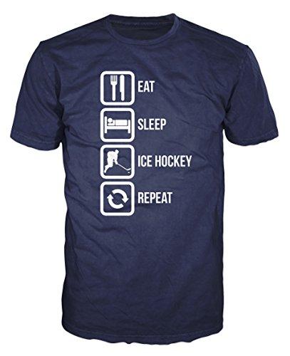 Repeat Funny T-shirt (XXL, Navy Blue) ()