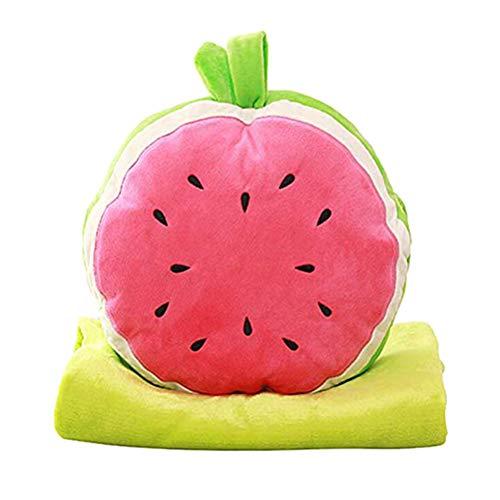 Nette Wassermelone Kissendecke Set Klimaanlage Decke, Kissen, Kissen-Set für Home Office Autoklimaanlage Zimmer für Kinder und Freundin