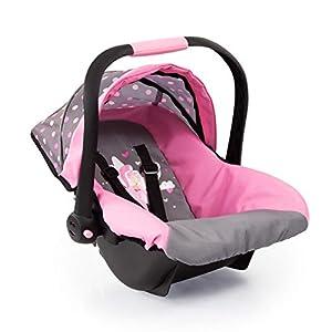 Bayer Design Silla de coche Easy Go, accesorios, Asiento para bebé de Muñecas, color gris hadas y motivos modernos (67966AA)