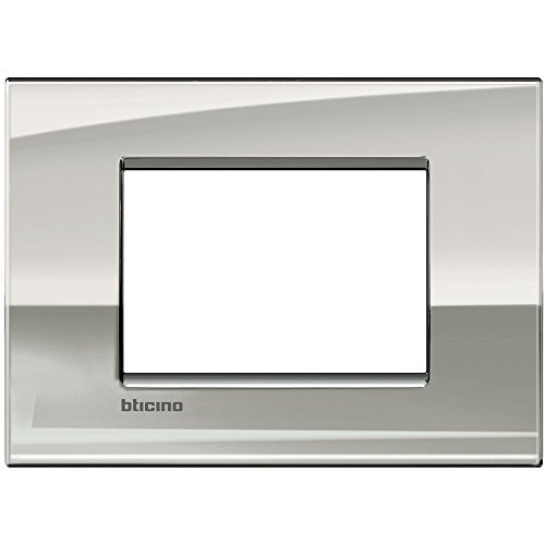 Bticino LNC4803PL Placca Livinglight Air 3 Moduli, Palladio