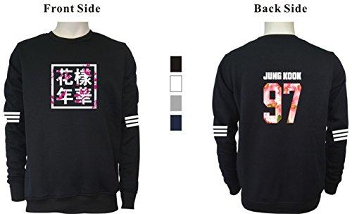 SERAPHY unisex BTS Felpe con cappuccio Girocollo a manica corta Bangtan Boys BTS Young Forever Suga Jin Jimin Jung Kook J-Hope Rap-Mostro V bianca-92-JIN