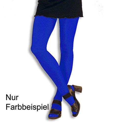KarnevalsTeufel Designstrumpfhose blau, Strumpfhose für Erwachsene, Universalgröße/Einheitsgröße