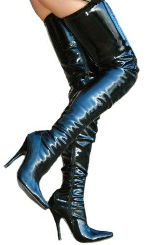 EROGANCE Lack High Heels Crotch Overknee Stiefel A3623L / EU 43 - 3