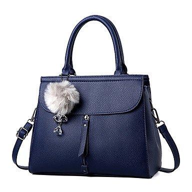 Frauen Handtasche Mode Soid Schulter Messenger Crossbody Taschen / Handtaschen Tote Light Grey