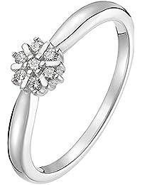CHRIST Diamonds Damen-Ring 375er Weißgold 7 Diamant ca. 0,10 ct. (weißgold)