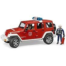 Bruder 02528–Jeep WRANGLER UNLIMITED Rubicon veicolo camion dei vigili del fuoco con vigili del fuoco - Wrangler Unlimited Rubicon
