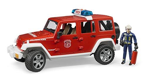 feuerwehr spielzeug bruder bruder 02528 Toys 2528 Jeep Wrangler Unlimited Rubicon Feuerwehr-Einsatzfahrzeug mit Feuerwehrmann