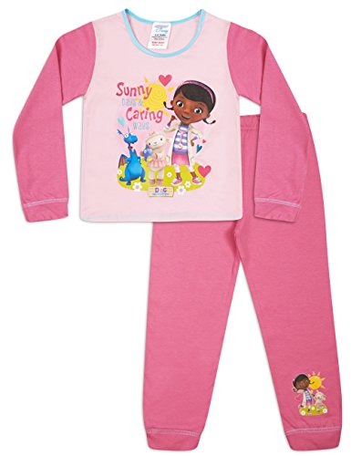 Doc McStuffins Schlafanzug Mädchen Snuggle Fit Schlafanzug Set Gr. 3 Jahre, Rose