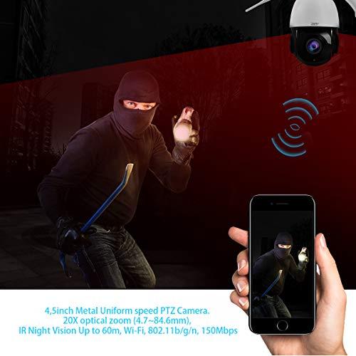 PTZ IP Kamera WLAN Dome Kamera mit Audio 2MP 20X optischer Zoom Unterstützt ONVIF und Bewegungserkennung IR-Nachtsicht bis zu 60 m