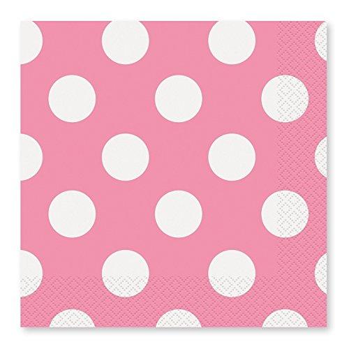 Takestop® Juego 72piezas Servilletas de papel para fiestas rosa lunares 16.5x 16.5cm) USA y desechables Cumpleaños Boda nacimiento bautizo Party