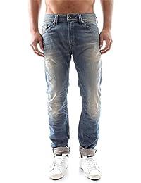 Diesel Thavar 0845F_Stretch Hommes Jeans Pantalon Slim Skinny