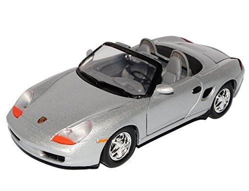 porsche-boxster-986-cabrio-plata-1996-2004-1-generacion-1-24-motor-max-modelo-modelo-de-coche-auto