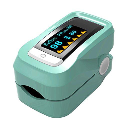 Pulsmessgerät Tragbare Oximeter Fingerclip Typ Blutdruckmessgerät Messgerät Herzfrequenz Tester Monitor Green
