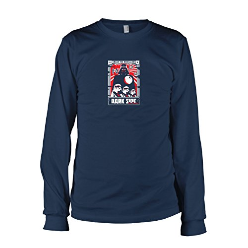 ebellion - Langarm T-Shirt, Herren, Größe XXL, dunkelblau (Prinzessin Leia Jabba The Hutt-kostüm)