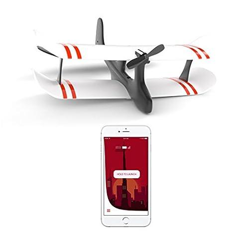 TobyRich Moskito: Smartphone App gesteuertes Flugzeug - ferngesteuerte Drohne für iOS und Android - RTF 2-Kanal Flieger aus (Quadrocopter Android)