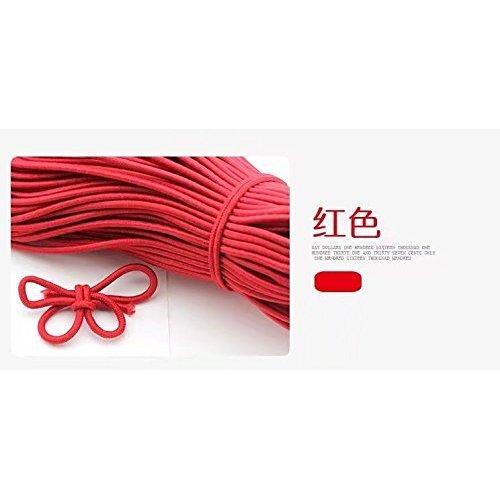 ricisung 10mts Gummizug 3mm Durchmesser Bungee Shock Cord-elastischer Shockcord Rope rot