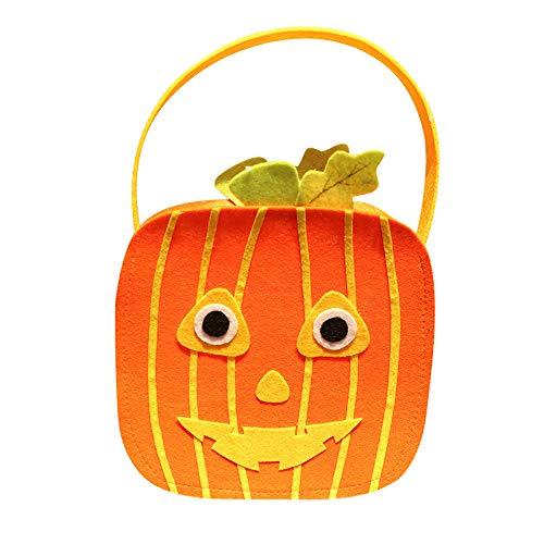 (Quaan niedlich kreativ Halloween DIY Vliesstoffe Süßigkeiten Tasche Paket Kinder Party Lager Zucker Anhänger Zuhause Dekor Geschenke Festival Fenster Kinder Zimmer Requisiten Grusel Dekorationen)