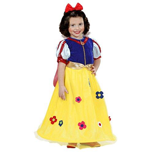 NET TOYS Schneewittchen Kostüm Prinzessin Kleid Kinder 98 cm 1-2 Jahre Märchen Mädchenkleid Prinzessinnen Kinderkostüm Disney Märchenkostüm Mädchen Schneewittchenkostüm Karnevalskostüme Kleinkinder