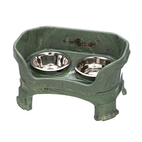 NEATER PET BRANDS Feeder-Deluxe mit Beinverlängerungen kleines camo grün -