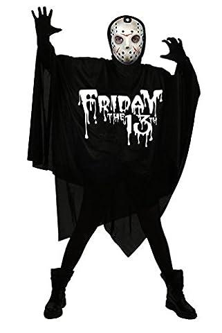 ,Karneval Klamotten' Kostüm Chainsaw massacre Jason Voorhees Halloween Freitag, der 13. Horror Herrenkostüm inkl. Maske (Jason Kostüm Freitag Der 13.)