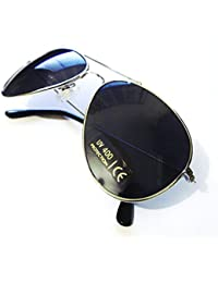 Silver Gun Metal Mirrored Aviator Sunglasses with UV400 Reflective Lenses Mens & Womens Fashion