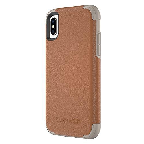 Griffin Survivor All Terrain Coque pour iPhone 5/5s/iPhone SE - Noir Cuir Marron