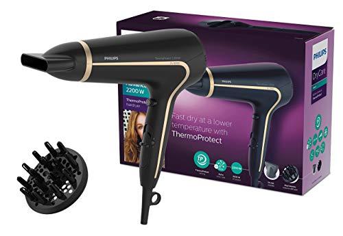 Philips DryCare Advanced Haartrockner mit ThermoProtect Technologie HP8232/20, 2200 W, DC-Motor und 2 Aufsätze