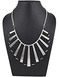Aradhya Silver And Black Designer Thread Necklace For Women And Girls