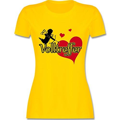 JGA Junggesellinnenabschied - Volltreffer - tailliertes Premium T-Shirt mit Rundhalsausschnitt für Damen Gelb