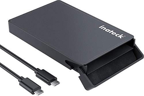 """Inateck Festplattengehäuse USB C auf SATA für 9,5 mm & 7 mm 2,5\"""" HDD/SSD, mit USB C zu C Kabel, UASP unterstützt, werkzeuglos"""