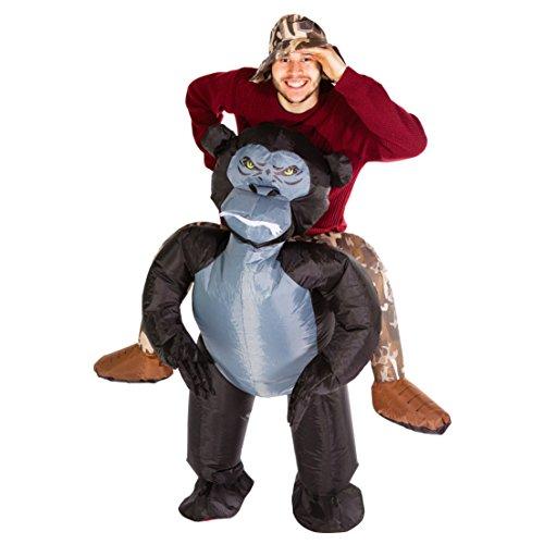 Aufblasbarer Gorilla Affe kostüm für Erwachsene